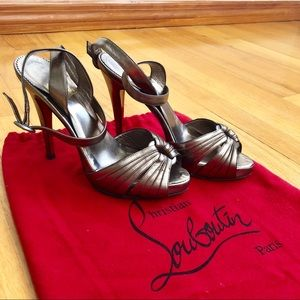 Christian Louboutin Metallic Brushed Gold Heels